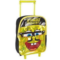 Mochila Bob Esponja \cheeky\ Mini Revista Rolling Backpack Y