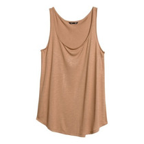 H&m Blusa Sin Mangas Color Cafe Claro