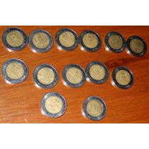 5 Monedas 5 Pesos Revolucion Independencia Repetidas Cinco