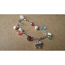 Pulsera Mujer, Novios Con Paraguas, Perlas, Cristales