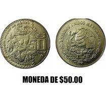 Moneda De $50.00 Coyolxauhqui, 1983