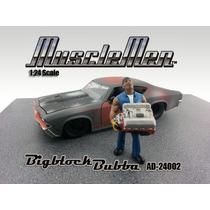 1:24 Figura Mecanico Con Motor V8 Escala Diorama Maqueta