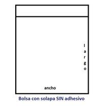 1000 Bolsas Polipropileno (celofán) 7x10 Con Solapa