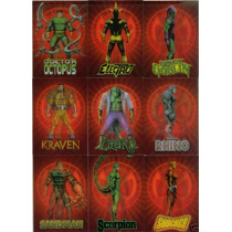 2009 Marvel Spiderman Archives Lenticular Set 9 Tarjetas