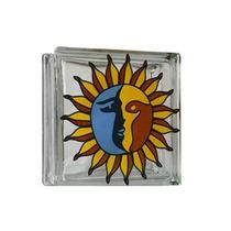 Vitroblock Decorativo Sol Y Luna 19 X 19 X 8 Cms