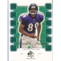 2000 Sp Authentic Rookie Fusion Travis Taylor Wr Ravens