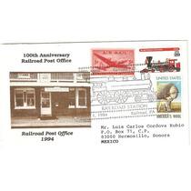 Sobre Estados Unidos Tren Estacion Postal Ferroviaria Vbf