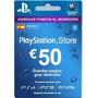 Psn 50 Euros Cuenta España Playstation Network Card Ps3 Ps4