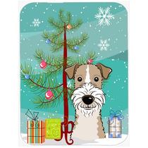 Árbol De Navidad Y Cabelludo Del Alambre Fox Terrier De Cri