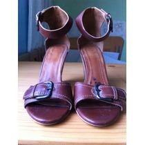 Zapatillas Marca Zara No. 36 Color Cafe Hm4