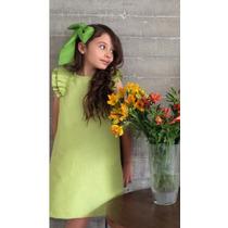 Vestido Para Niña Sin Mangas Color Verde