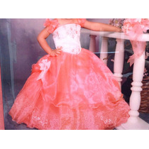 Vestido De 3 Años Para Presentacion Col. Coral