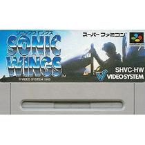 Sonic Wings Super Nintendo Japonesa