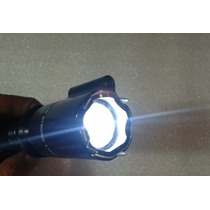 Lampara Tactica Recargable Descarga Electrica Con Laser Rojo