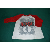 Playera Ac/dc - Black Ice - (manga 3/4)
