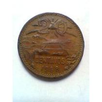 20 Centavos De Cobre Moneda Mexicana 1968 Usada