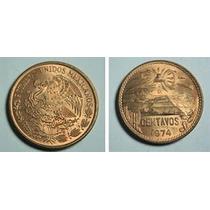 Monedas De 20 Centavos 1973 Piramide Teotihuacan