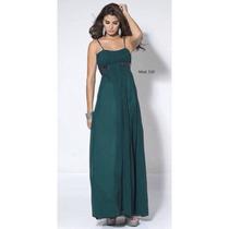 Vestido De Noche Mod 510 Jade Pedrería (velvet)