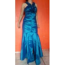 Hermoso Vestido Azul Largo De Fiesta Envío Gratis
