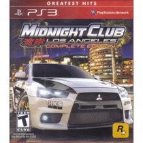 Midnight Club Los Angeles Complete Edition Ps3 Nuevo Fabrica
