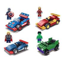 Carro Capitan America Thor Hulk Iron Man Compatible Con Lego