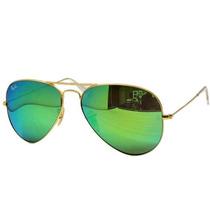 Ray Ban Aviator Espejo Verde Gota Chica Rb 3025 112/19