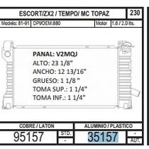 Radiador Escort / Zx2 / Tempo / 81-91 L4 2.0 / 2.3 35157