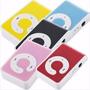 50 Reproductores Mp3 Micro Sd Tipo Shuffle Portable Plastico