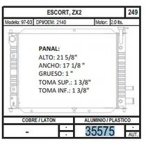 Radiador Escort / Zx2 97-03 L4 2.0 35575 + Regalo