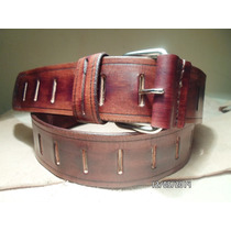 Cinto De Cuero,ancho Calidad Rockstar Leather...