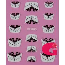 Sticker Uñas Frances 3d Set 4sobre Xf803,xf863,xf806,xf865