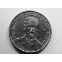 Moneda De Fco. I Madero 25 Cents 1964 $ 12.00