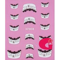 Sticker Uñas Frances 3d Set 4sobre Xf864,xf808,xf867,xf868