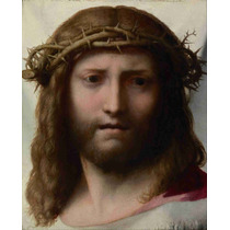 Lienzo Tela Rostro De Cristo De Correggio Italia 62 X 50 Cm