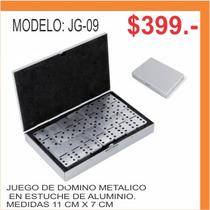 Juego De Domino Metalico En Estuche De Aluminio
