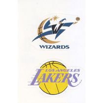 1997 Ud Choice Italian Sticker Wizards Lakers Logo Teams