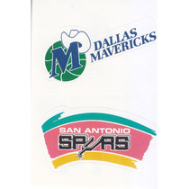 1997 Ud Choice Italian Sticker Mavs Spurs Logo Teams #4 #114