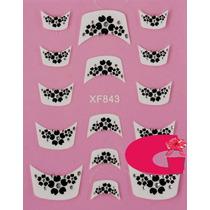 Sticker Uñas Frances 3d Set 4sobre Xf843,xf870,xf845,xf846