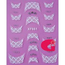 Sticker Uñas Frances 3d Set 4sobre Xf861,xf804,xf864,xf807