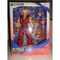 Street Fighter 4 Play Arts Kai Ken Figura Articulada 28cm