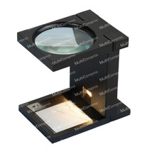 Lupa Cuenta Hilos Gde 90mm 2.5x Con Luz Lectura Electronica