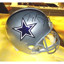 Casco Replica Riddell Firmado En Persona Tony Romo Cowboys.