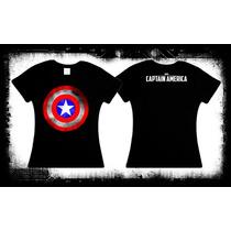 Capitan America - Escudo Camiseta Y Blusa Marvel Pelicula