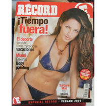 Revista Record Con Barbara Mori Y Poster Central, En Español