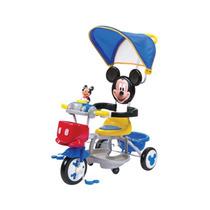 Triciclo Niños Mickey Mouse Con Baston De 9 Meses A 3 Años