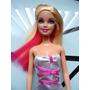 Hermosa Barbie Con Cabello Rosa Y Ropa Original!