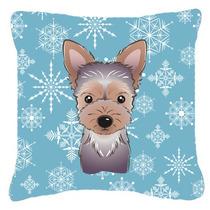 Copo De Nieve Del Perrito De Yorkie Tejido Almohada Decorati