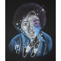 Playera Michael Jackson Playera Aerografiada Aerografía