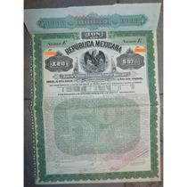 Bono De La Deuda Consolidada Exterior Mexicana, 1899.
