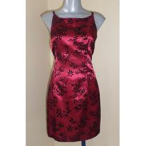 Super Coqueto Mini Vestido Satinado Talla 28/30 Color Vino